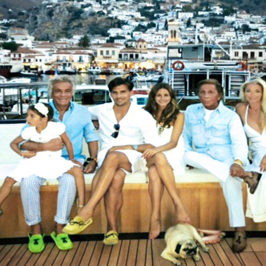 <p>On Valentino's yacht in Hydra, Greece, 2013.</p>