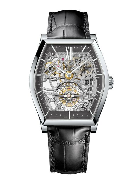 The incredibly precise design of the tourbillon movement is clearly exposed, so seeing into the fascinating skeltonized movement on one wrist would be the perfect counterpoint to the cool slickness of the Apple design on the other. $264,700, vacheron-constantin.com
