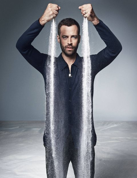"<p class=""MainBodyMain""><strong>Benjamin Millepied is driving down Sunset Boulevard</strong> in Los Angeles, a haunting voice streaming from the speakers of his sleek navy blue sedan, the scene made slightly less glamorous by his son's car seat in the back. ""I'm listening to either Bach toccatas or James Blake right now,"" he says. ""Just those two things. I'm thinking of dancing, actually. I'm trying to get back in shape now."" He delivers this news casually, though with a sidelong glance. He knows the elation this could provoke among balletomanes, but he won't say exactly when this might happen.</p> <p class=""MainBodyMain"">If you don't follow ballet, the name Millepied might simply skirt your consciousness. Perhaps you've heard it linked with that of the actress Natalie Portman, his wife of two years, or you remember his brief appearance as her partner in the film <em>Black Swan</em>, which he choreographed. (The two met on the set.) Likely his name doesn't ring any bells at all, but that could change soon enough. In November the celebrated former principal dancer for New York City Ballet will be taking over the oldest national company in the world, the Paris Opera Ballet, at just 37 years of age, making him its youngest director ever.</p> <p class=""MainBodyMain"">Millepied left City Ballet in late 2011, without the usual fanfare and streamer-filled farewell celebration. ""Dance was a personal thing,"" he says. ""I didn't want balloons and all."" And he had other things on his mind. ""I was really excited about my relationship with Natalie. It didn't matter in that moment.""</p> <p class=""MainBodyMain"">When he dances, the French-born Mille-pied has a striking buoyancy that feels very American, and that enthusiasm carries over into pretty much everything he does. As we drive around the neighborhood on the east side of Los Angeles where he, Portman, and their three-year-old son, Aleph, have a home, he points excitedly at favorite landmarks: a barely visible Frank Lloyd Wright house tucked into the hills; his favorite store, Skylight Books, on Vermont Avenue. -Millepied recently started gardening, and he tells me about ""all these exotic palm trees that are not from L.A., that were brought in when the city was built."" It's not unlike Israel, where he and the Jerusalem-born Portman spent four months earlier this year. (She was there to direct her first film, <em>A Tale of Love and Darkness</em>.) ""I claim that's why she moved here,"" he says with a laugh.</p> <p class=""MainBodyMain"">He is feeling nostalgic because he and Portman are about to relocate to Paris. The announcement of his appointment came last January and was greeted, in some circles, with shock. The expectation was that the opera would promote someone from within, not a man who has spent his entire career in America. ""Some people said, 'Well, he's never run a big company,' "" Millepied says. ""Yeah, but I was in a big one, and I've been running stuff for a long time. Maybe it's not the French system, but I think it's good to arrive in the French system with an American understanding of how things are supposed to work.""</p> <p class=""MainBodyMain""> </p> <p class=""MainBodyMain""><strong>Burberry Prorsum </strong>shirt ($995) and pants ($295).</p>"