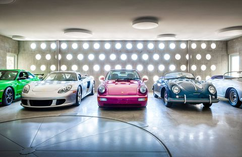 "<p><strong>MOST PEOPLE THINK OF A GARAGE AS A</strong> mundane necessity. Very few would consider it as important as the house, but Joerg Ineichen, a family therapist in San Diego and a collector of vintage Porsches, had a compelling reason for thinking just that. He likes to drive what he collects—fast, sporty cars—and ""the idea of having them close is very special,"" says Ineichen, who, with his partner David Espinosa, a real estate agent, turned to an architect who really got their obsession.</p> <p> </p> <p><em>The storage garage of vintage Porsches, home to a blue 1957 Speedster, a red 1992 964 RS</em>, and a silver 1997 <em>GT2. </em></p>"