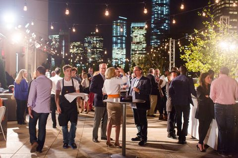 Guests at the Tribeca Rooftop celebration