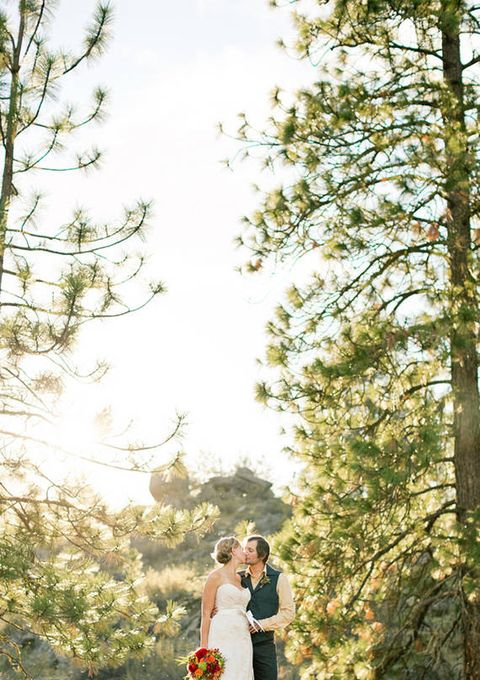 Clothing, Dress, Bridal clothing, Photograph, Bride, Petal, Outerwear, Happy, People in nature, Wedding dress,