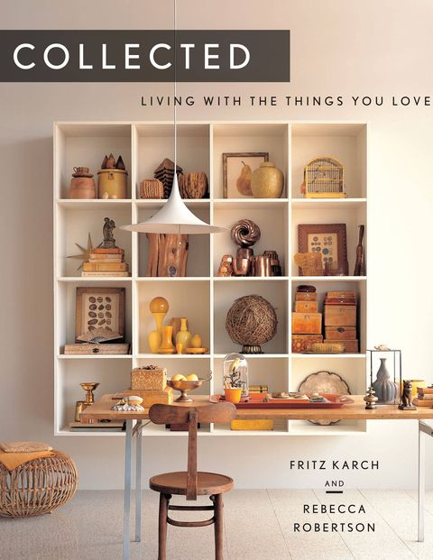 These days, our predilection for vintage everything—spurred by the proliferation of flea markets and online shopping sites—has turned us into a nation of collectors. But how do we display what we've so lovingly amassed? In their new book, Collected: Living With The Things You Love (Abrams), Fritz Karch and Rebecca Robertson offer a multitude of examples. The authors, who both worked for Martha Stewart Living (he as collecting editor, she as decorating editor) organize the objects they show according to fifteen different collecting personalities: the Modestist (bottle caps, matchbooks); the Exceptionalist (blue and white Chinese vases displayed on a gilded Rococo mirror, or Calcedonio, a rare type of Murano glass); the Pragmatist (antique cookie molds, pitchers, glass laboratory flasks); or the Fantasist (vintage swizzle sticks, Lilly Pulitzer blazers). Karch and Robertson bemoan the fact that so many collectors keep their treasures locked away in cupboards or storage units where no one can enjoy them, and instead suggest ingenious ways to bring them to light—arraying small silver spoons on a pewter charger, for example, or hanging a group of colorful tea canisters on a wall. No matter what you collect, Collected will show you how to show it off.