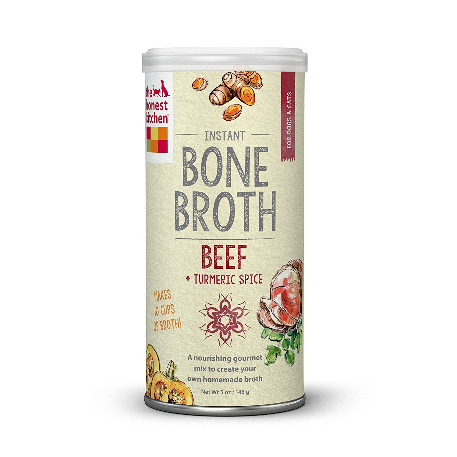 The Honest Kitchen Bone Broth Liquid Treat for Dogs and Cats (Beef)