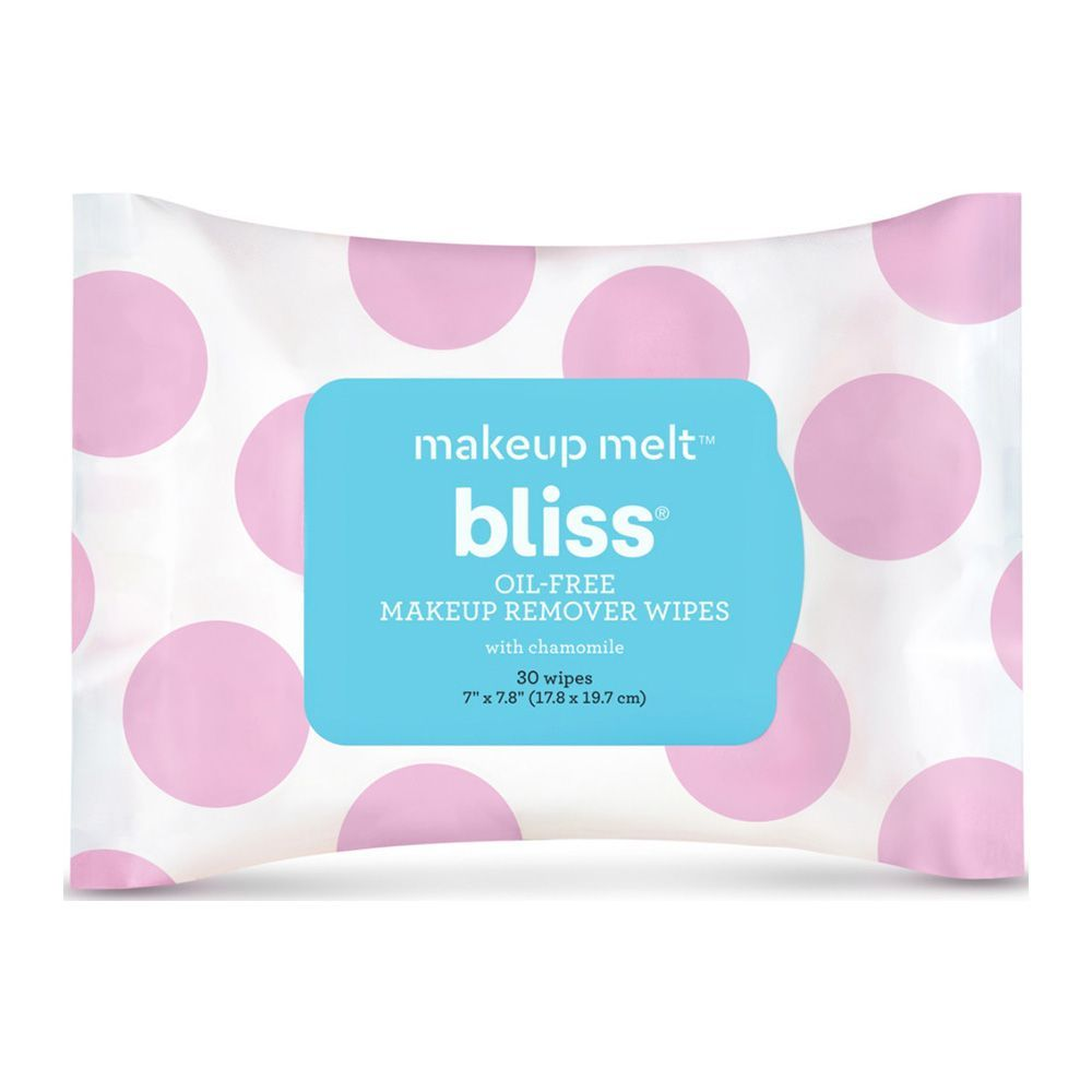 Bliss Makeup Melt Oil Free Makeup Remover Wipes