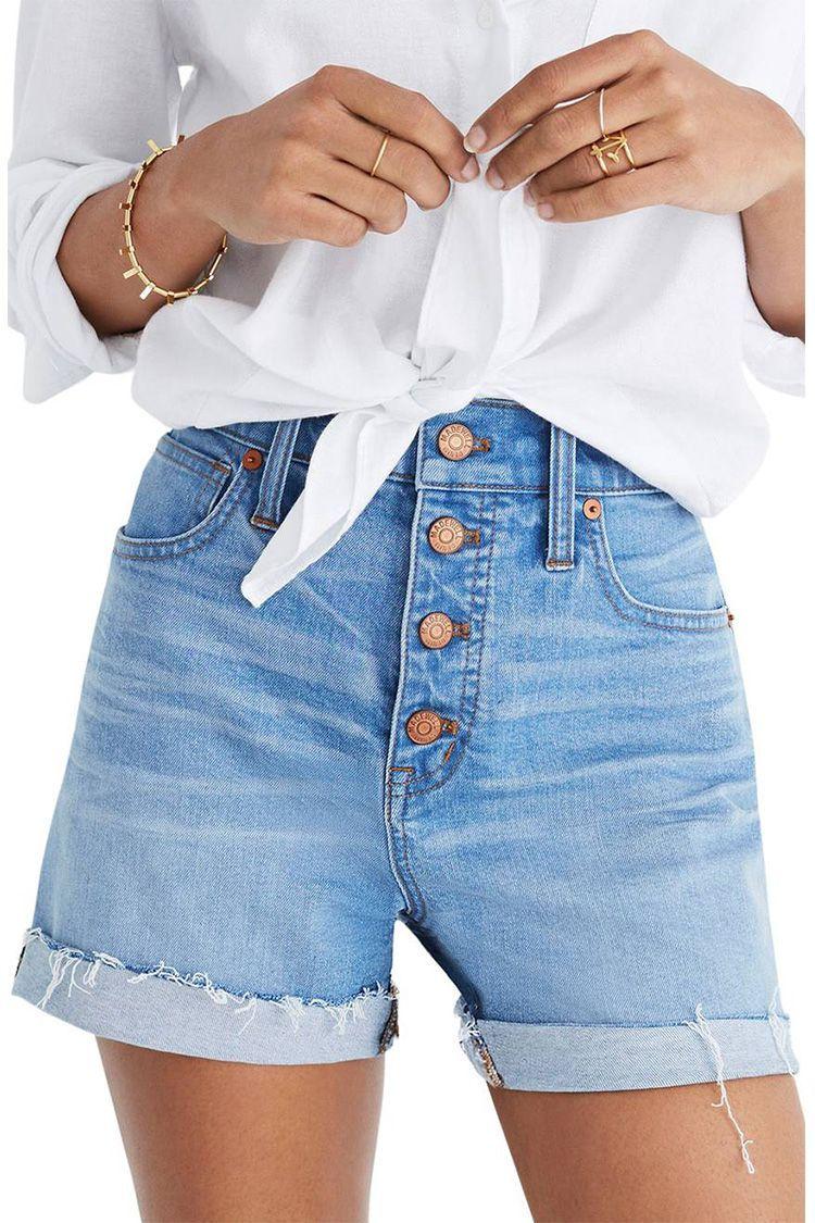 0b10b86b8c55 10 Best Denim Shorts to Wear This Summer 2018 - Cute Jean Shorts & Cutoffs  for Women