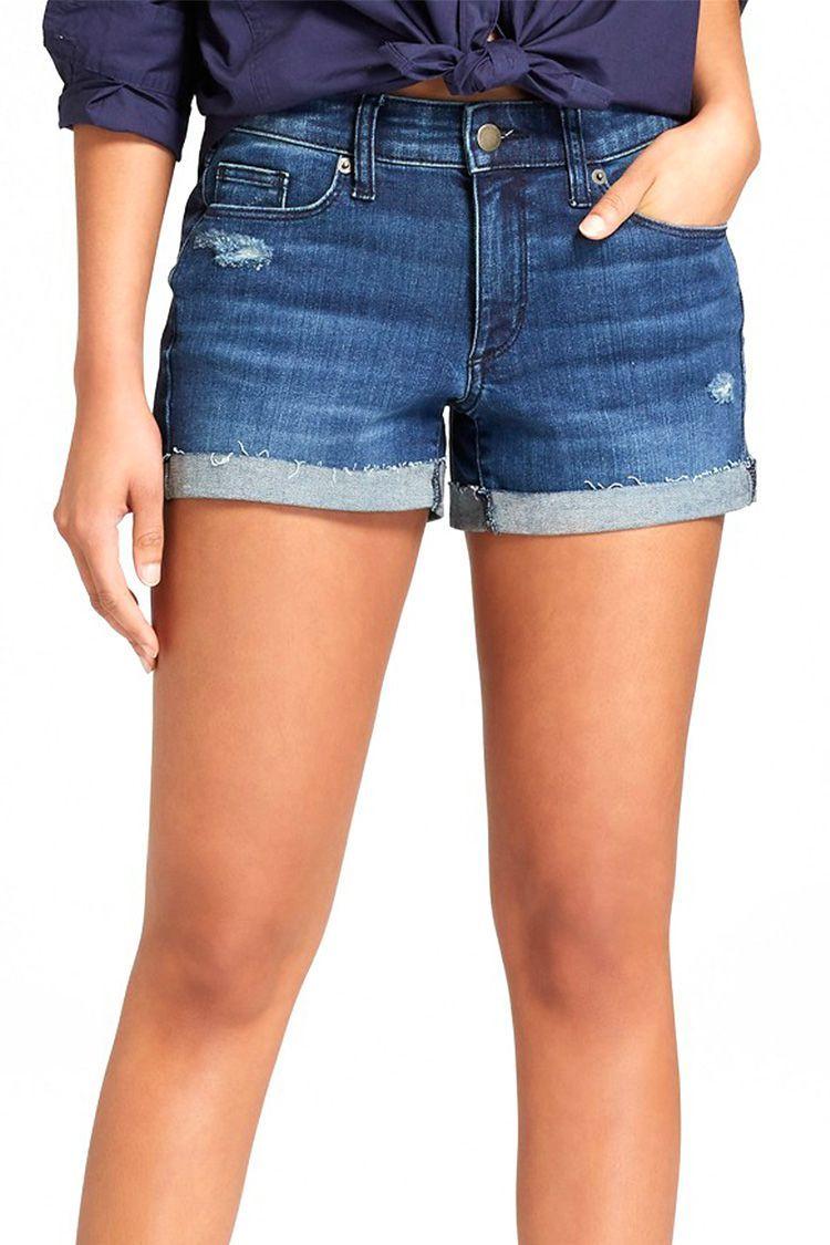 046e253a1b Universal Thread Mid-Rise Destructed Midi Jean Shorts