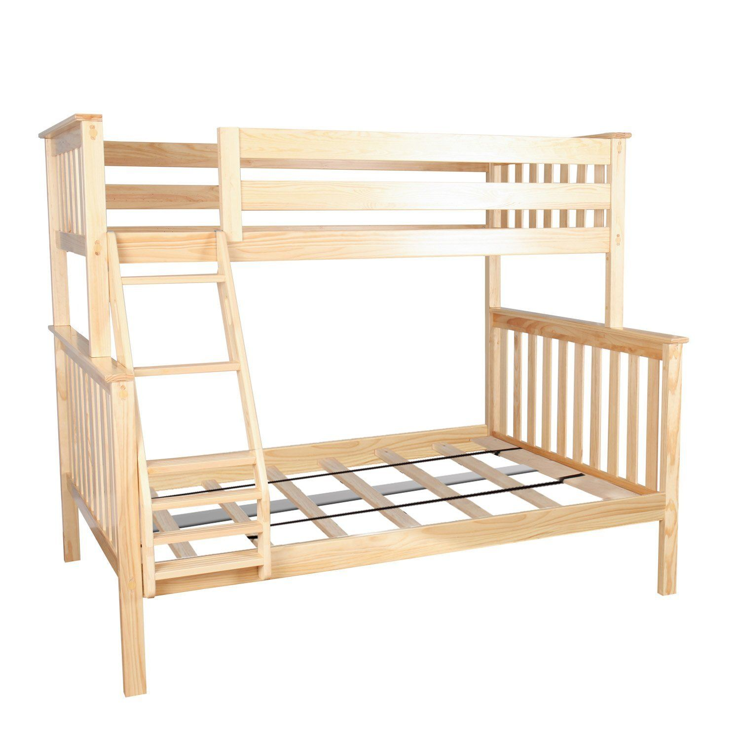 Max And Lily Solid Wood Twin Over Full Bunk Bed For Kids