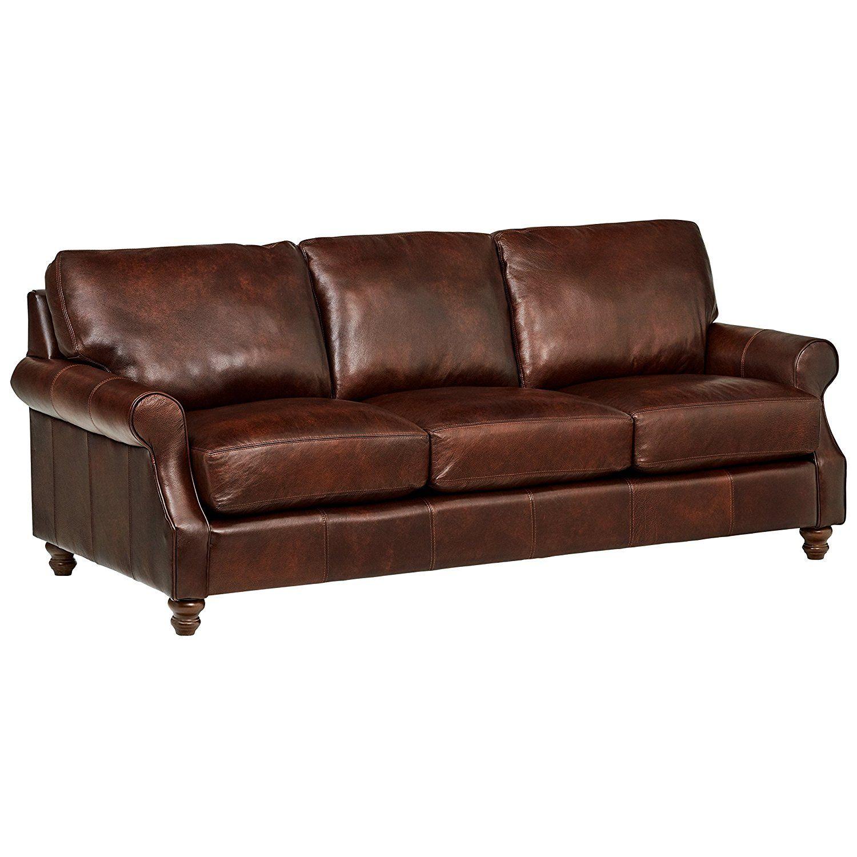 1 Stone U0026 Beam Charles Classic Oversized Leather Sofa