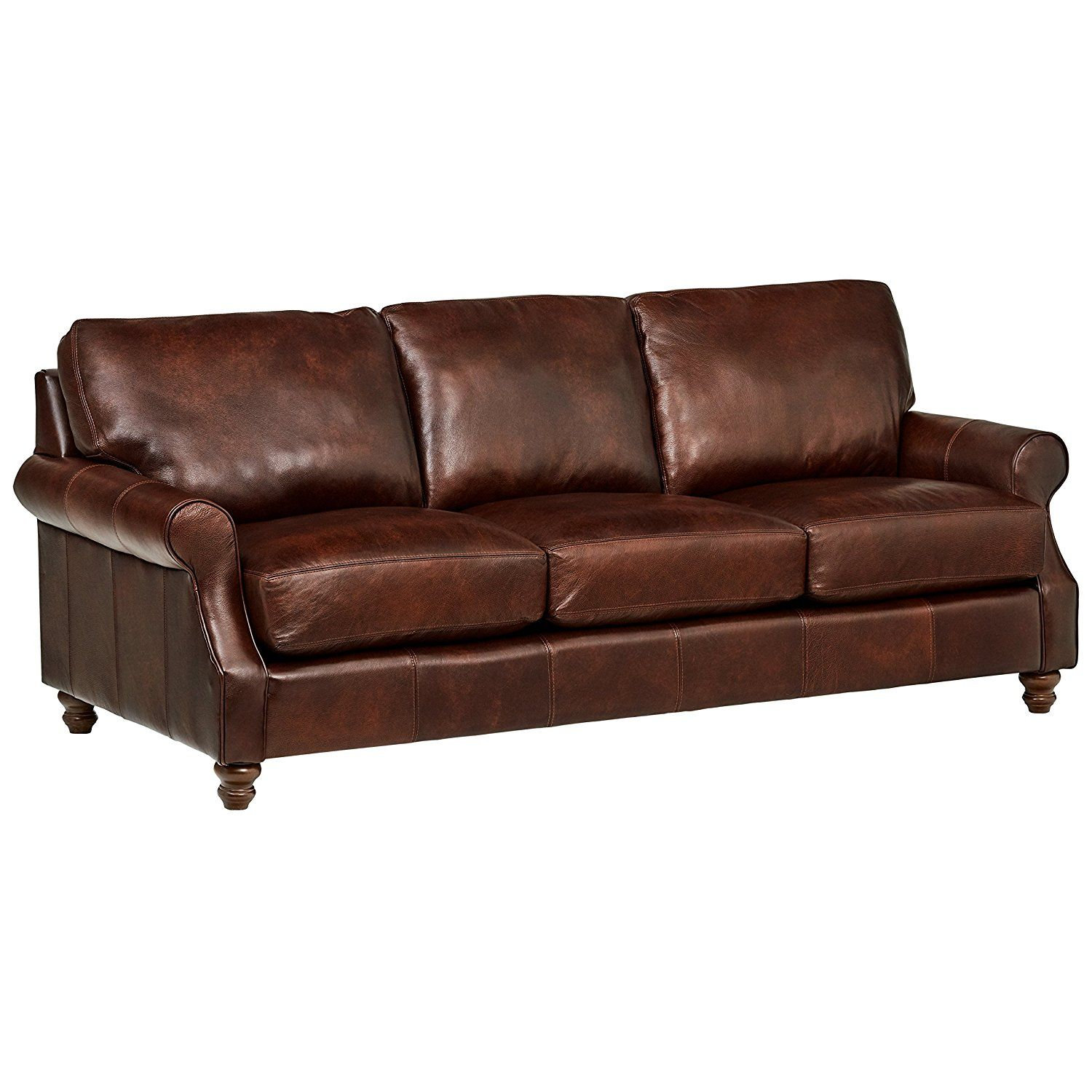 1 Stone U0026 Beam Charles Classic Oversized Leather Sofa