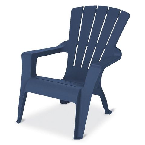 4 Midnight Stackable Outdoor Adirondack Chair Home Depot