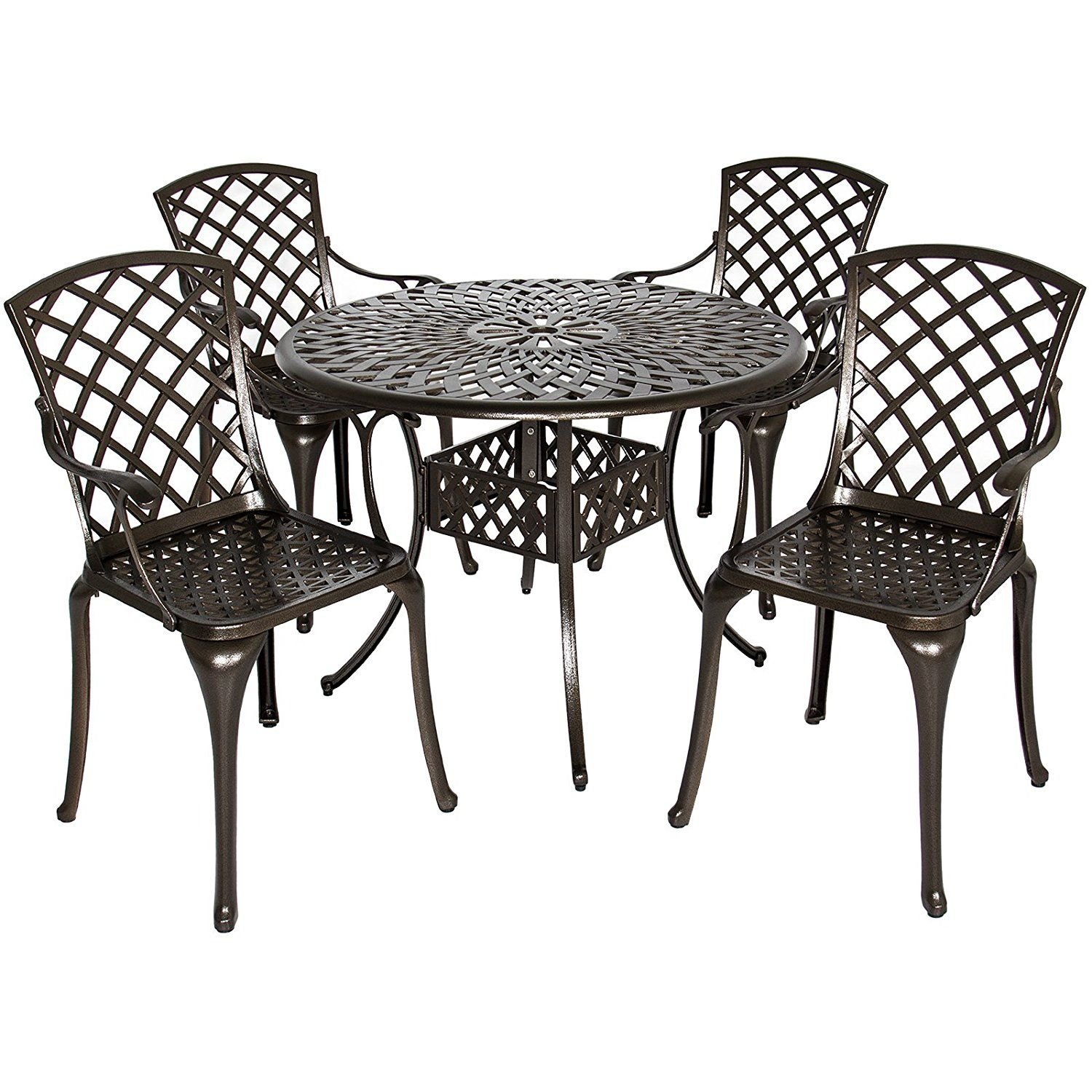 1 Best Choice Products Cast Aluminum Patio Dining Set