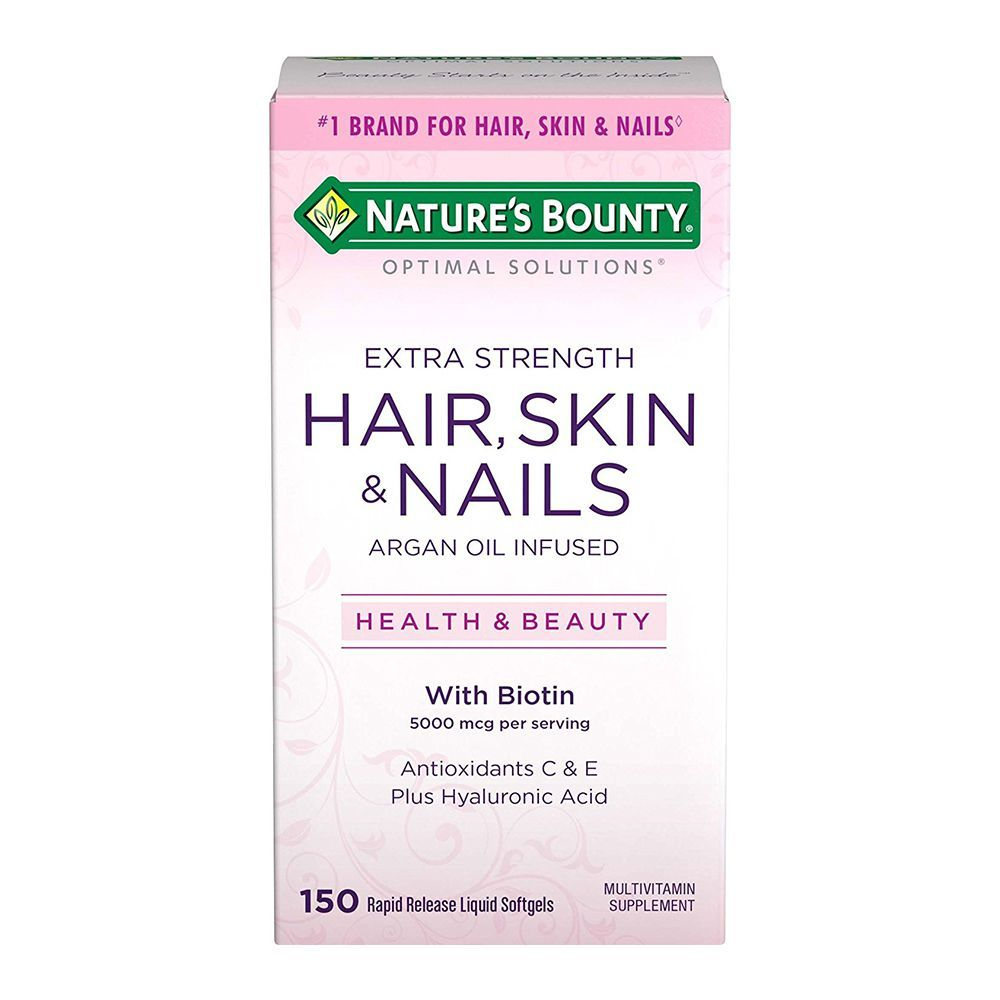 Nature S Bounty Optimal Solutions Hair Skin Nails Extra Strength Multivitamin Supplement