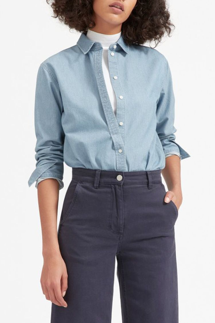 12 Best Chambray Shirts For Women In 2018 Cute Womens Chambray Shirts