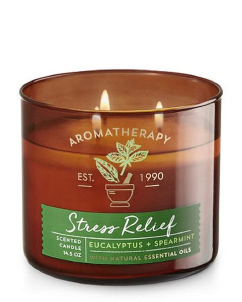3 Bath Body Works Stress Relief Eucalyptus Spearmint Scented Candle Amazon