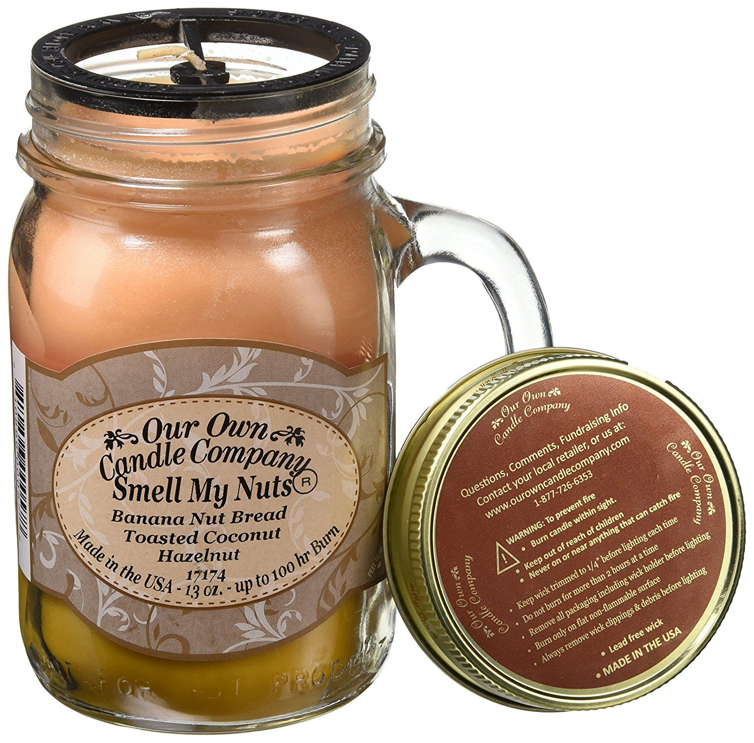 Smell My Nuts Scented Mason Jar Candle