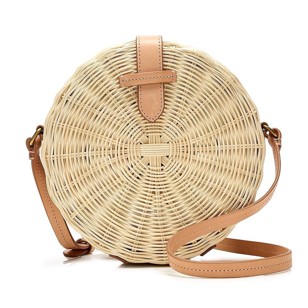 0948238bc77c 14 Best Straw Bags for Summer 2018 - Cute Straw Handbags   Basket Bags