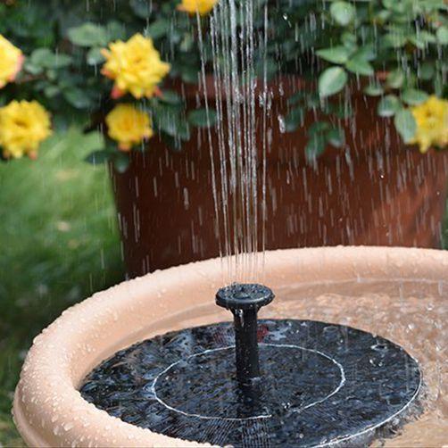 1 Madetec Solar Powered Birdbath Fountain Pump