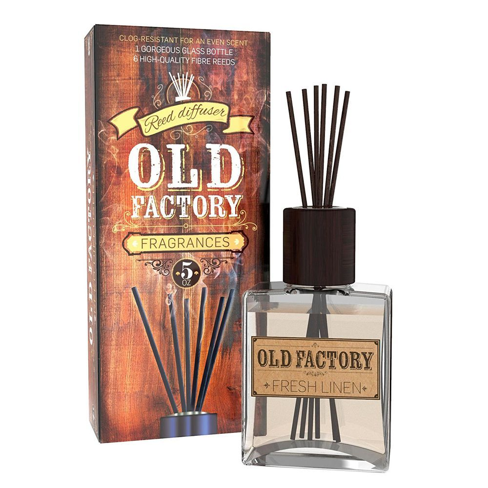 1 Old Factory Fresh Linen Reed Diffuser Set