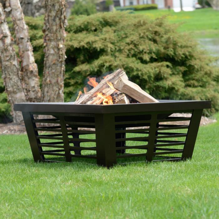 3 Hudson Square Fire Pit. Walmart & 11 Best Backyard Fire Pit Ideas - Stylish Outdoor Fire Pit Designs