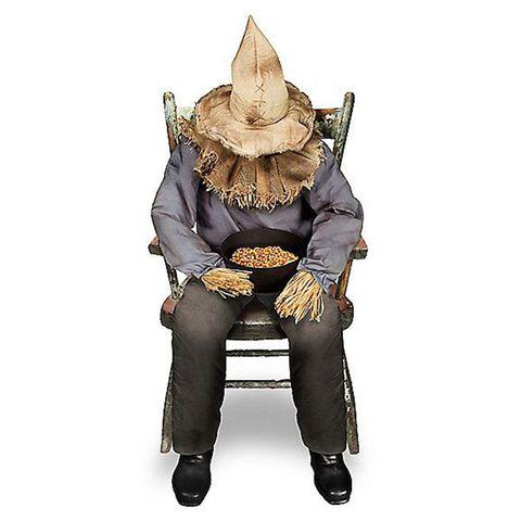 spirit halloween 4 foot sitting scarecrow animatronic