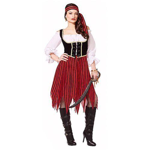 BUCCANEER Beauty NAILS Pirata Costume Adulti