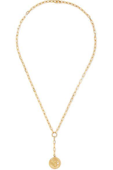 9eab7659074aa Karma 18-karat gold Diamond Necklace