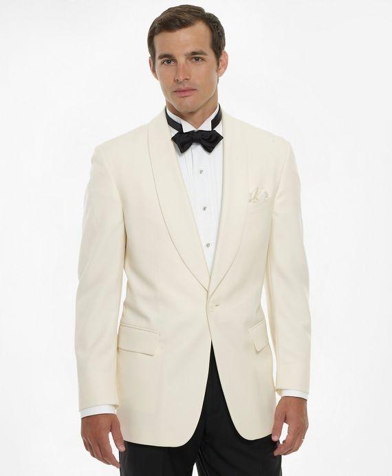 Boy/'s Oscar de la Renta White Dinner Jacket Tuxedo Coat