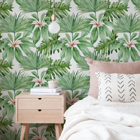 10 Best Tropical Removable Wallpapers Palm Leaf Temporary