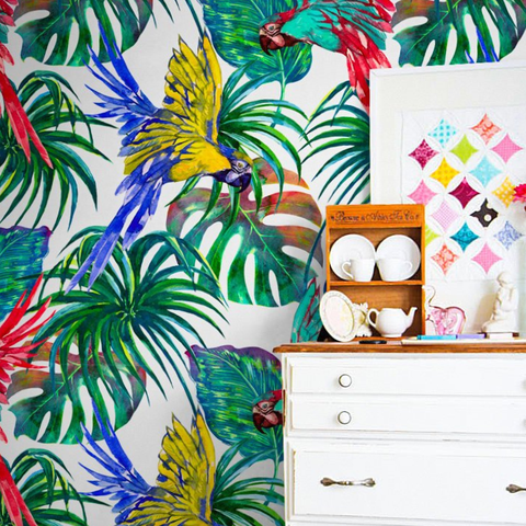 10 Best Tropical Removable Wallpapers Palm Leaf