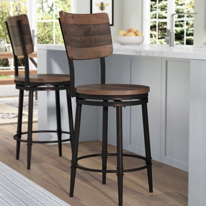 Fantastic Distressed Walnut Bar Stool Caraccident5 Cool Chair Designs And Ideas Caraccident5Info