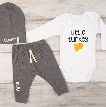 8d70af4a67e8a 20 Baby Thanksgiving Outfits - Cute Girl & Boy Infant Clothes for ...