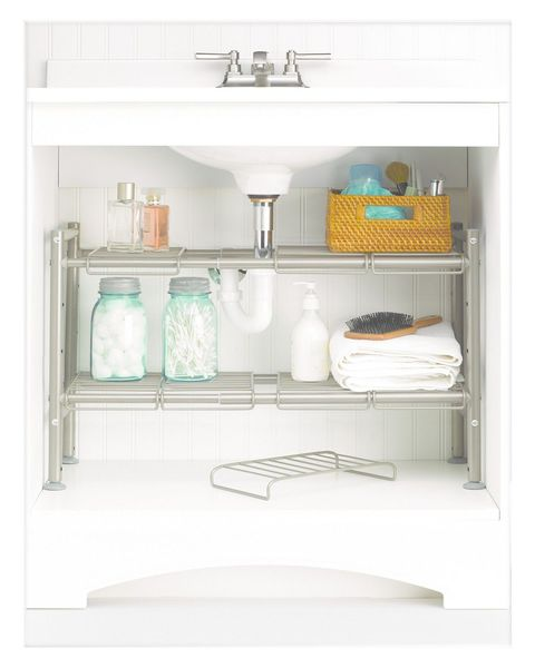 1 Expandable Under Sink Storage Rack