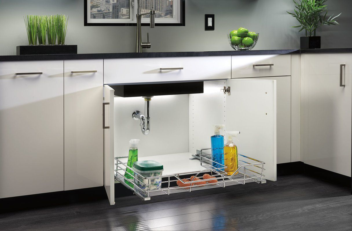 13 under sink organizers for bathrooms and kitchens easy under rh housebeautiful com under kitchen sink storage solutions under kitchen sink storage ideas