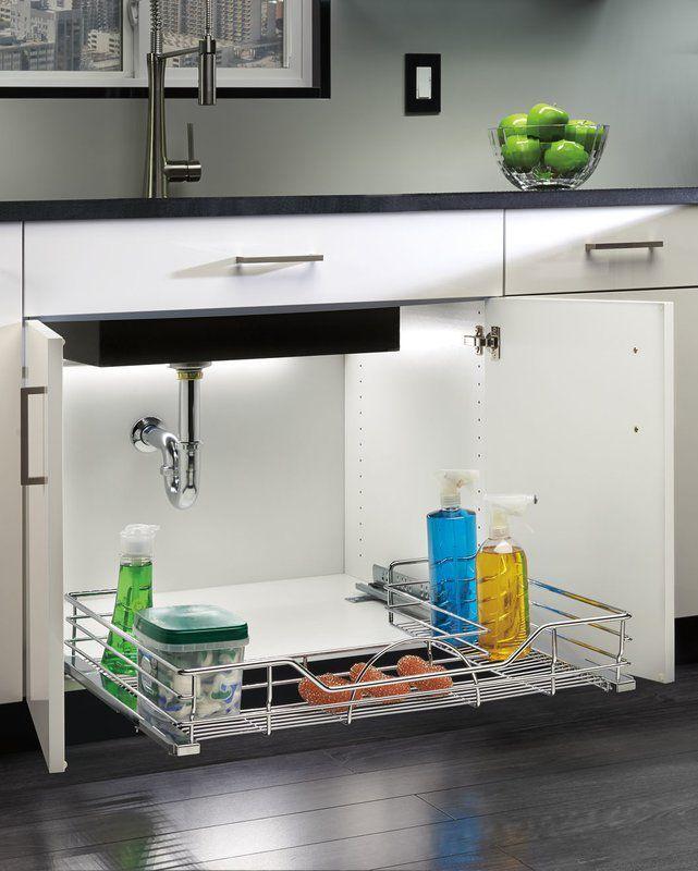 under kitchen sink storage 10 Under Sink Organizers for Bathrooms and Kitchens   Easy Under  under kitchen sink storage