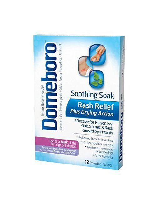 Domeboro Soothing Soak Rash Relief Powder Packets