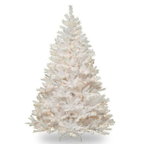 national tree co winchester pine 7 foot pre lit white christmas tree