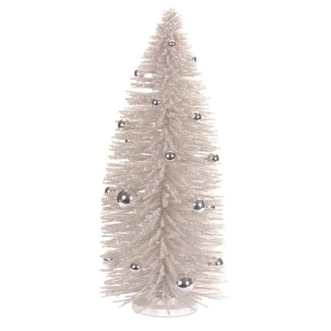 melrose silver bottle brush tabletop christmas tree