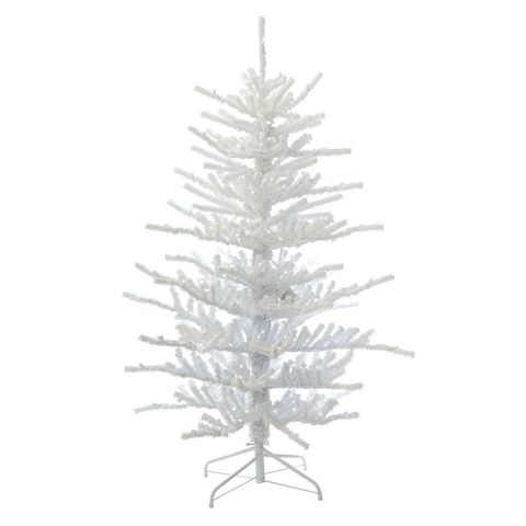 Vickerman 7.5-Foot Pre-Lit Artificial Christmas Tree - 8 Beautiful White Christmas Trees For 2018 - Pre Lit White Christmas