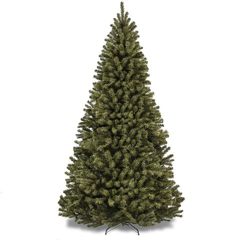 3 best choice products 75 foot premium spruce hinged artificial christmas tree - Best Artificial Christmas Tree Reviews
