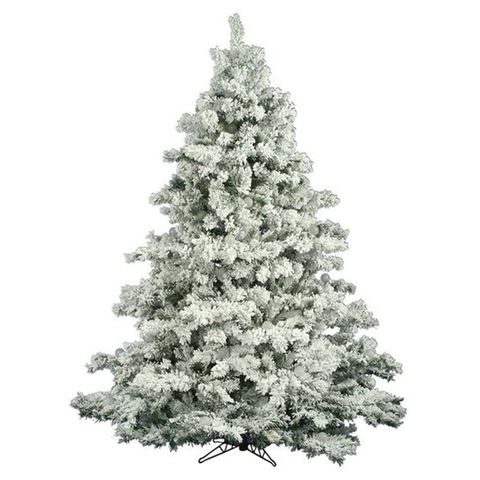 10 the holiday aisle flocked alaskan 65 foot white pine artificial christmas tree - Blue Spruce Artificial Christmas Tree