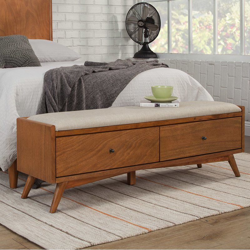 Parocela Wood Storage Bench