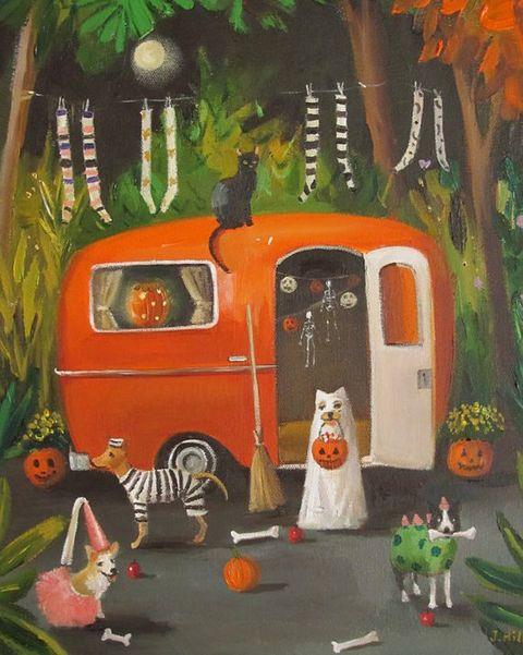 10 cool halloween paintings spooky halloween art prints to buy in 2018