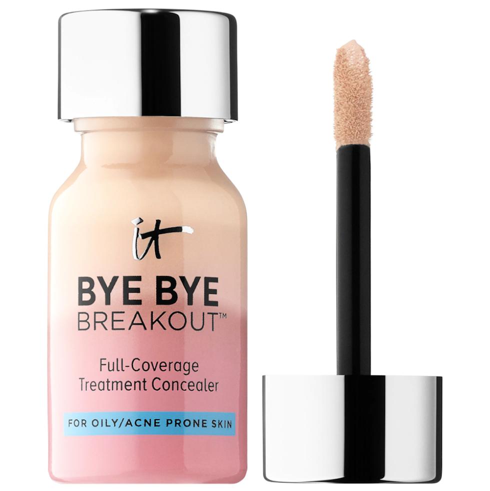 For oily, sensitive skin: IT Cosmetics Bye Bye Breakout Concealer