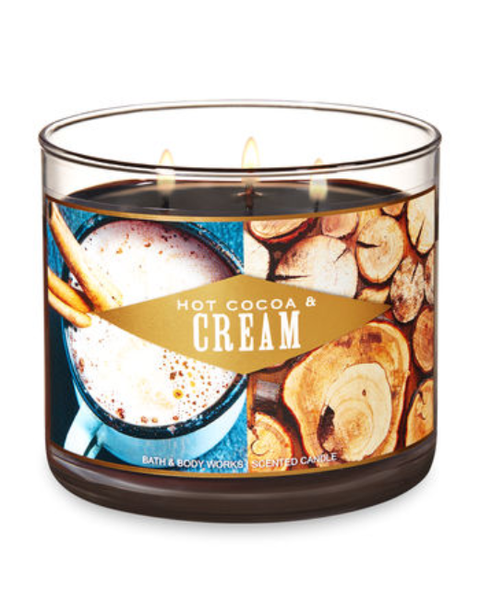 Hot Cocoa Cream 3 Wick Candle
