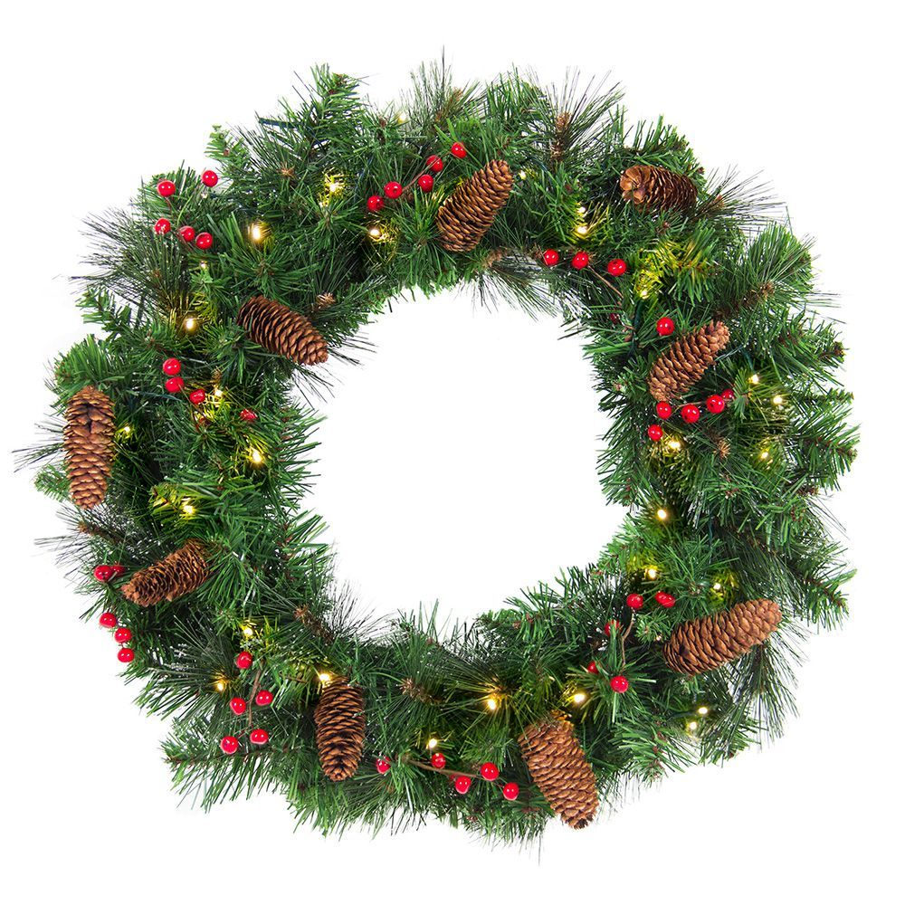 Evergreen Christmas.Best Choice Products 24 Inch Spruce Christmas Wreath