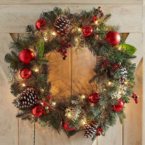 Prelit Christmas Wreath.12 Best Christmas Wreaths For Your Front Door Holiday Wreaths For 2018