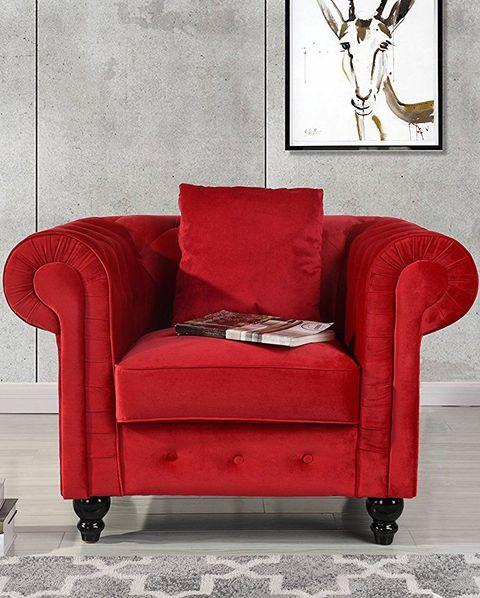 12 Best Accent Chairs For Adding, Red Accent Chair Living Room