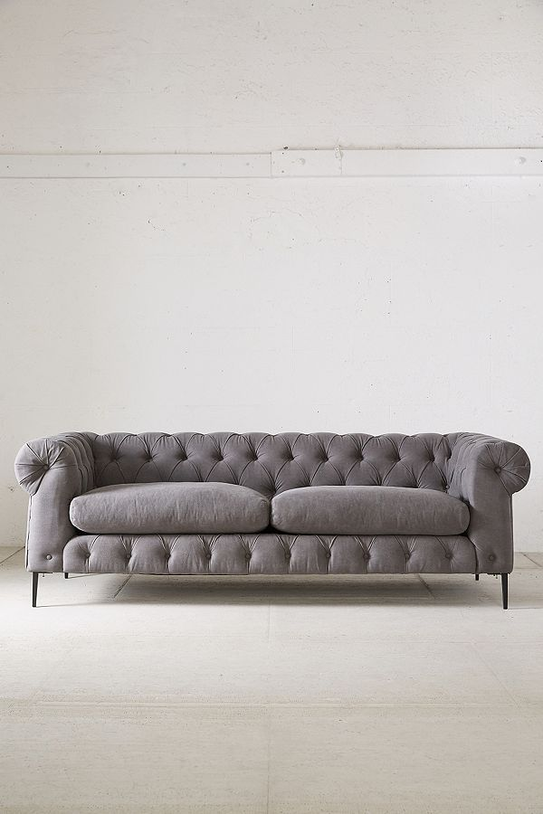 Miraculous Grey Canal Tufted Sofa Uwap Interior Chair Design Uwaporg