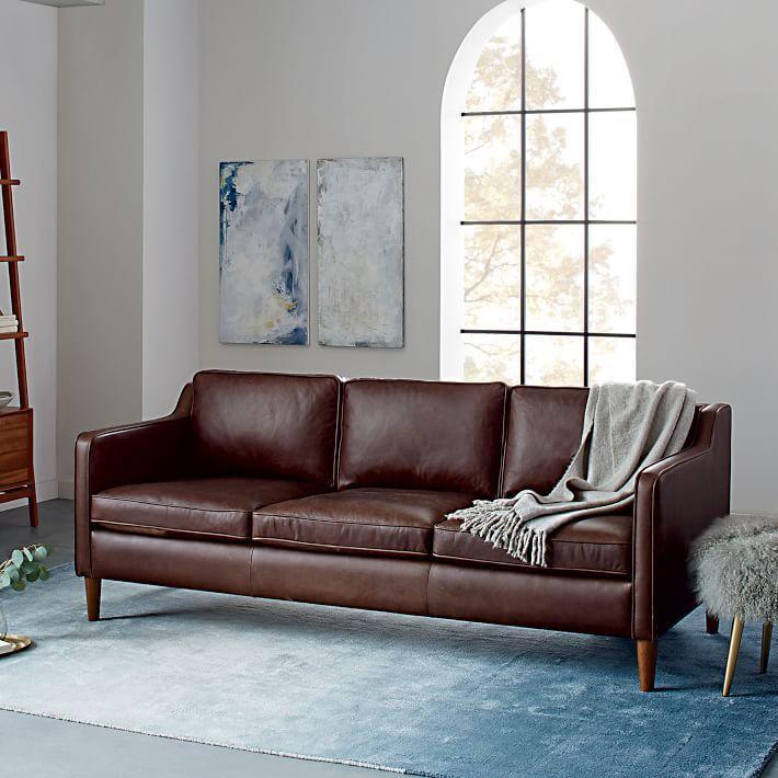 Hamilton Leather Sofa in Mocha